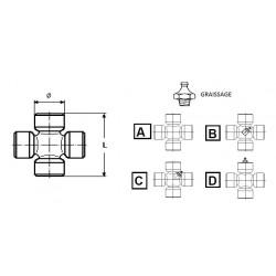 BLOC / CROISILLON 38 X 56 GRAIS. CENT.