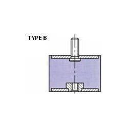 PLOT ANTI VIBRATOIRE ( SILENT BLOC ) TYPE B 20x30 M6